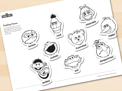 photograph regarding Feelings Book Printable known as Muppet Thoughts Sesame Highway inside of Communities - Sesame