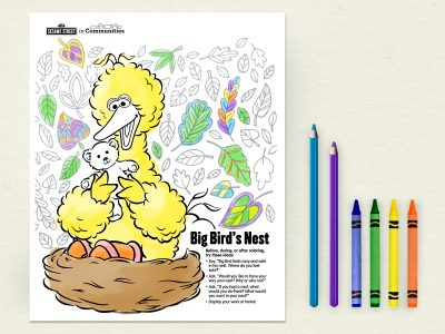 Coloring Big Bird S Nest Sesame Street In Communities