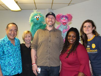 The Center for Family Services team with Abby, Rosita, and Alan.