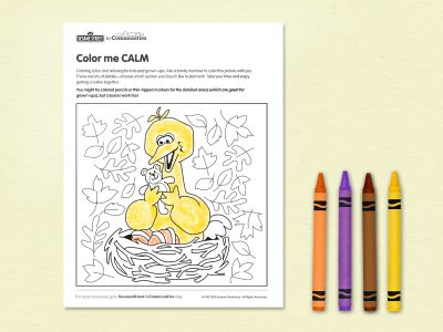 Color Me Calm printable
