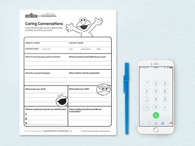Caring Conversations printable
